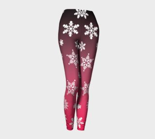 Snow Flurries Leggings-Pink Ombre preview