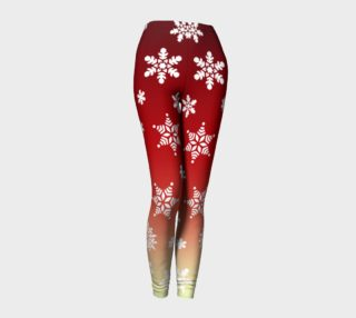 Snow Flurries Leggings-Red/Cream Ombre preview