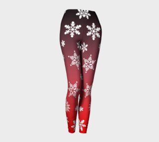 Snow Flurries Leggings-Red/Grey Ombre preview