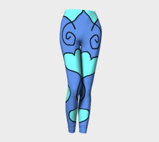 S10 Cornflower with Light Blue Hearts Leggings TV music funny preview