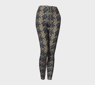 Blue Gold Pattern Leggings preview