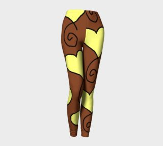 Brown With Light Yellow Hearts Leggings preview