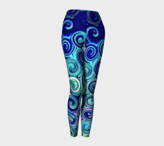 Blue Swirls Pattern Leggings preview