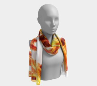 orange flowers long scarf preview