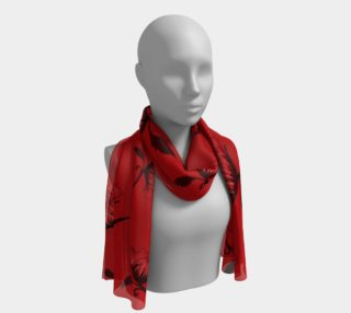 Red Scarf with flowers preview