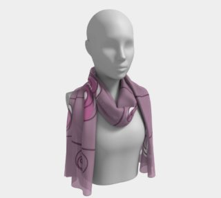 Purple Abstract Flowers Long Scarf preview