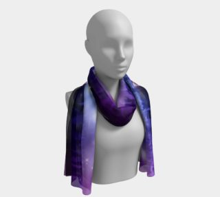 Purple and Blue Burst Long Scarf preview