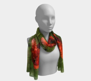 Utterly Italy Tuscan Poppies Long Scarf preview