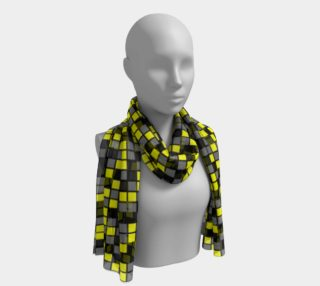 Yellow, Black, and Medium Grey Random Mosaic Squares preview