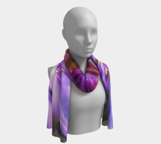 Purple Flower 2 Long Scarf preview