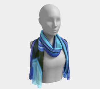 Blue Hydrangea abstract scarf preview