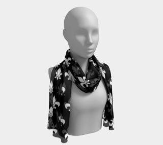 White Fleur de Lis on Black preview