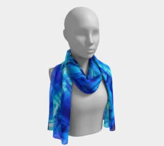 Glistening Blue Liquid Water Texture Long Scarf preview