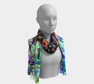 Sparkly rainbow Liquid Metal Long Scarf preview