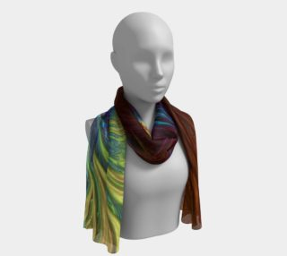 Rainbow Copper Fractal 19 Long Scarf preview