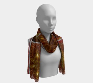 Aperçu de Golden Thai Crazy Quilt Long Scarf