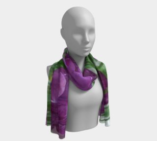Purple Tulips Forever Long Scarf preview