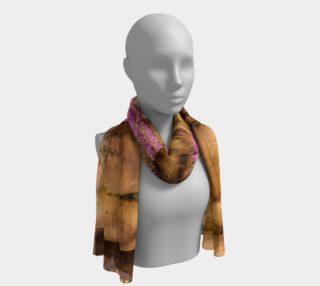 Forest with Purple Flowers Long Scarf preview