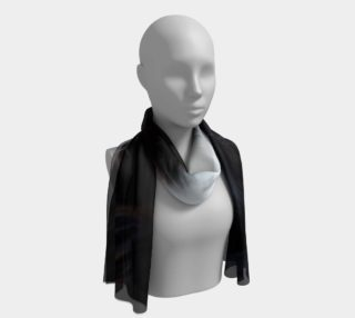 Cavalier King Charles Spaniel Black and White Eyes Long Scarf preview