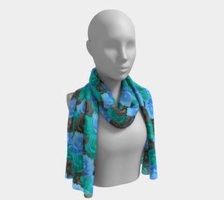 Blue Roses Long Scarf preview