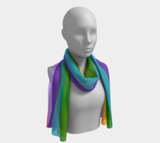 Rainbow Design Large Scarf preview