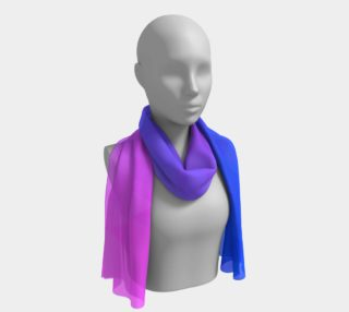 Purple, blue, and pink ombre flame long scarf preview