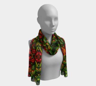 Pepper mandala silk scarf long preview