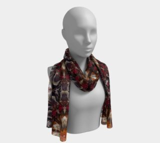 Beet mandala vegetable art long silk scarf preview