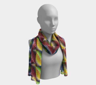 Aperçu de Bargello pattern silk scarf long