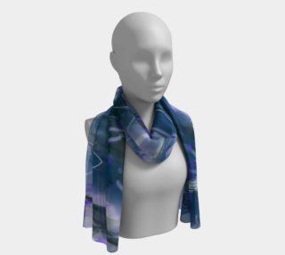 Foulard long Astral bleuté  preview