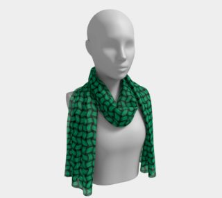 "Scarf 16""x72"" • Crochet Weave 01 - Medium Mint 