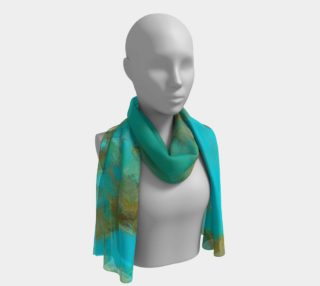 New King Turquoise Long Scarf 2 preview