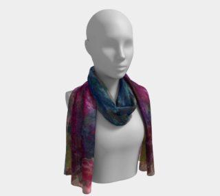 Aperçu de Rainbow Blossom Long scarf