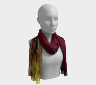 Aperçu de Powerful red and green gold Long scarf
