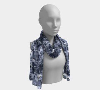 Aperçu de Indigo Blue Long Floral Scarf