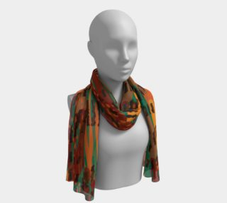 Abstract Animal Stripes Long Scarf preview
