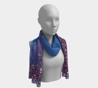 Watercolor Swirls J - Blue & Purple Sparkles, Long Scarf preview