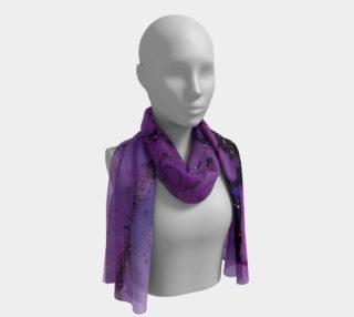 Watercolor Swirls K - Purple & Black, Long Scarf preview