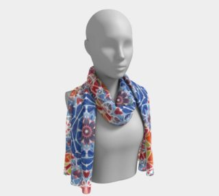 Blue and Orange Kaleidoscope Long Scarf preview