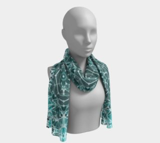 Turquoise & Gray Kaleidoscope Long Scarf preview