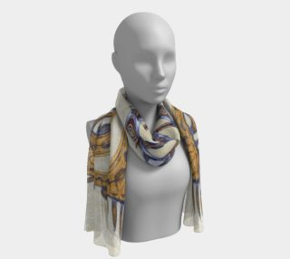 Yoga Woman Victory Symbol Print Scarf (w/lux-surface look.) preview