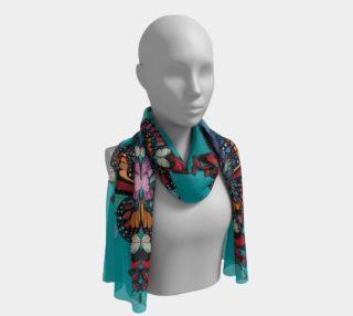 Beautiful rainbow butterflies long scarf preview