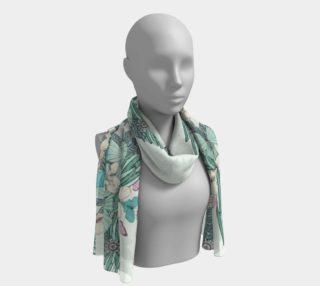 Summer garden long scarf preview