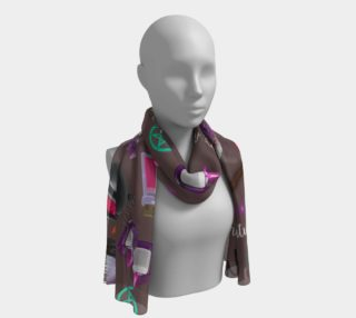 WK #ModernWitchLife Taupe Print Long Scarf preview