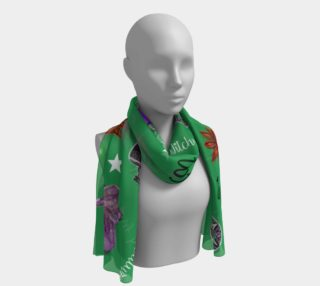 WK #ModernWitchLife Green Print Long Scarf preview