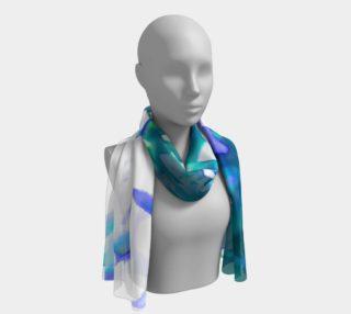 Aperçu de green and purple flower long scarf