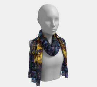 Aperçu de Adopted Ancestors: Blue & Gold - Long Scarf