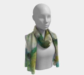 Romantic Green Tea Rose Long Scarf preview