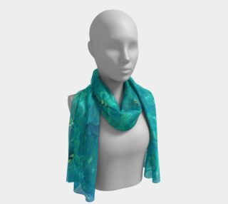 Blue aquatic marine, long scarf. preview