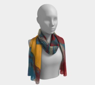 Purple and Red Oblong Scarf preview